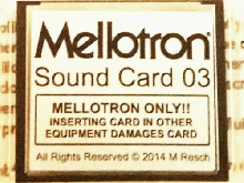 Mellotron Sound Card 03 Mellotron M4000D as new