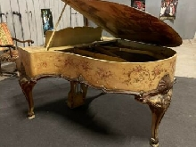 Piano a Queue 1/4 Chickering Boston Rocaille Rococo Baroque 1902 Décor Unique