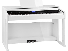 Piano Numerique Clavier E-Piano 88 Touches a Marteau USB MIDI 360 Sons Mp3 Blanc