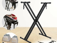 Support Stand Clavier Dual Tube pour Clavier Piano Synthétiseur Workstation