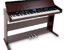 88 Touches Piano Numerique Clavier Digital Marron 3 Pédales USB MIDI 360 Sons