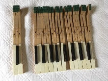 Touches de piano clavier ancien 65 touches