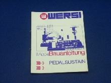 Wersi Instruction BA004 Pedalsustain