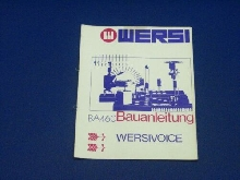 Wersi Instruction BA460 - Wersivoice