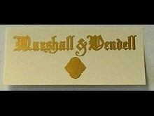 Marcshall & Wendell Fallboard Autocollant