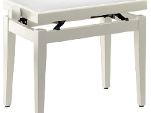 Banquette piano Blanc - Velours Blanc - Stagg - PB39 WHP VWH