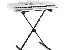 SUPPORT PIANO CLAVIER SYNTHETISEUR PIED REGLABLE EN X STAND CONCERT SCENE METAL