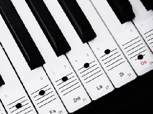 Faburo 2pcs Autocollants amovibles pour notes de piano Stickers transparents...