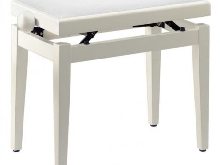 Stagg PB05 - Banquette Piano blanc mat velours blanc